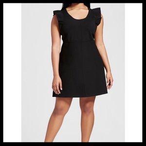 Victoria Beckham Target Ruffle Sleeve Knit Dress
